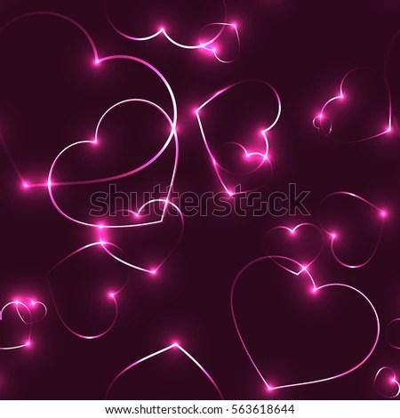Neon Pink Background With Hearts Wwwpixsharkcom