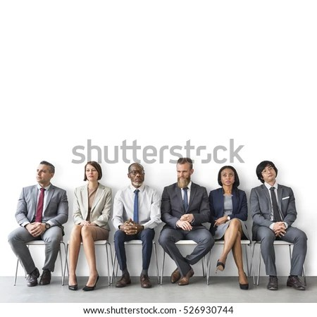 Human Resources Interview Recruitment Job Concept Stock ...