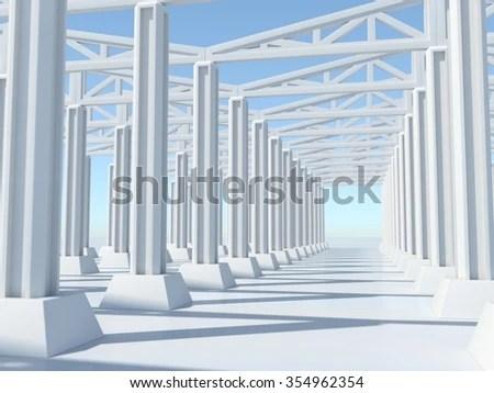 Factory Background Concrete Floor Structure Concrete Stock ...
