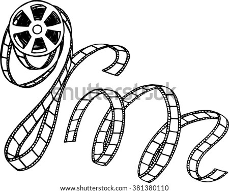 Movie Reel Tape Coloring Pages