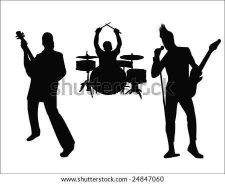 Rock Band Silhouette Stock Images, Royalty-Free Images ...