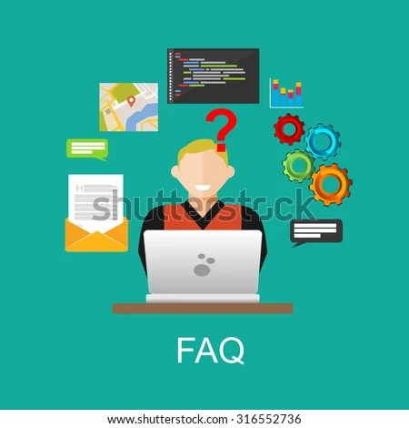 Frequently Asked Questions FAQ Concept Illustration Stock ...