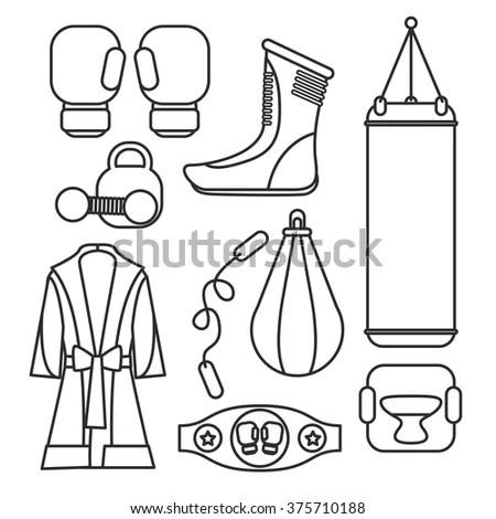 Vector Boxing Gloves Stock Vector 126598652 Shutterstock