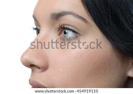 female face perfect skin cut half stock photo shutterstock