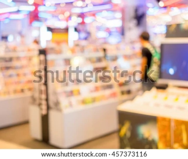 Abstract Blur Cd And Dvd Store Selling Both Music And Movie For Background