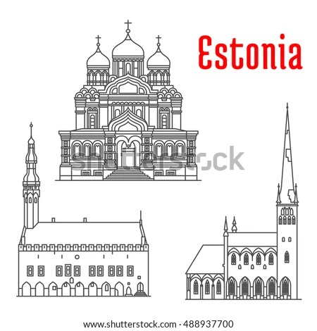 Tallinn Postcards Stock Images Royalty Free Images