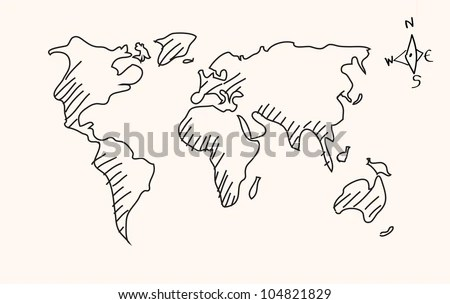 world map drawing simple » Full HD Pictures [4K Ultra]   Full Wallpapers