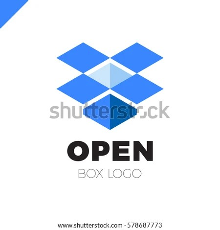 Blue Open Box Logo Wwwpixsharkcom Images Galleries