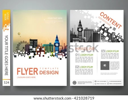 Flyers Design Template Vector Modern Brochure Stock Vector