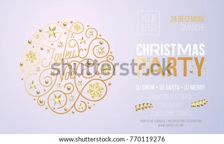Invitation for christmas party in french inviview christmas party invitation french joyeux noel stock vector 770119276 stopboris Gallery