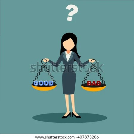 Businesswoman Cartoon Character Facing Ethical Issue Stock Vector 407873206 - Shutterstock