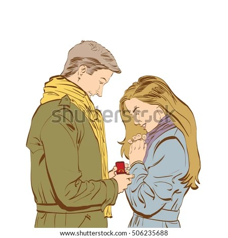 Download Boyfriend Girlfriend Drawing Stock Images, Royalty-Free ...