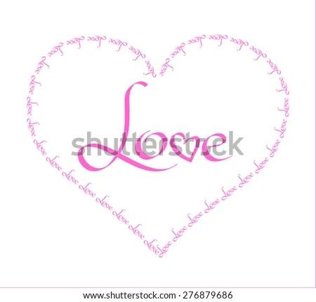 Big Love Heart Picture Frame | Bedwalls.co