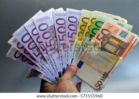 Euros Money Euro Cash Background Euro Stock Photo Edit