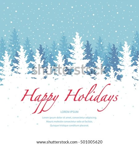 Vector Background Happy Holidays Banner Template Stock