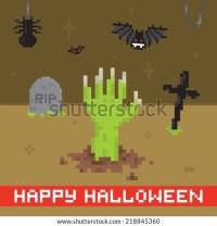 happy halloween pixel art