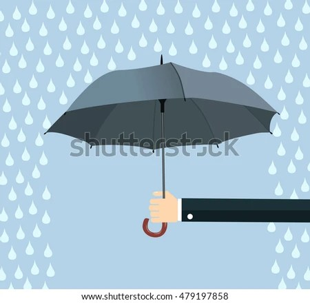 Vector Set Umbrella Stock Vector 417074155 - Shutterstock