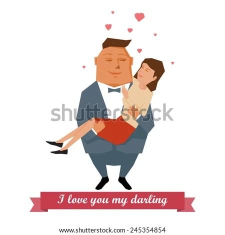 Download I love you my darling, illustration simple design. - stock ...