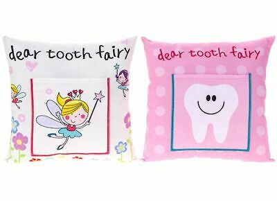 childrens kids girls tooth fairy pillow cushion pocket money note letter gift