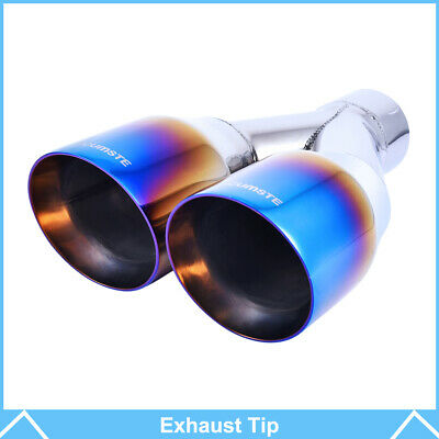 2 5 inlet matte black exhaust tips stainless steel slant 6 oval audi rs look auto parts accessories tu berlin auto parts and vehicles