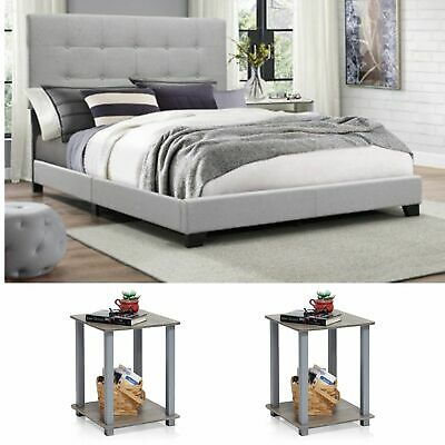 ambrose modern smokey gray 5pcs bedroom set furniture w king poster canopy bed home garden bedroom sets