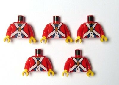 Lego torso   Zeppy io Lego 5 torso body for minifigure figure red imperial soldier pirate army
