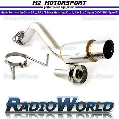 other performance exhausts m2 honda civic sport ep2 1 6 rear back box exhaust rolled tip spoon n1 z2087 guidohof