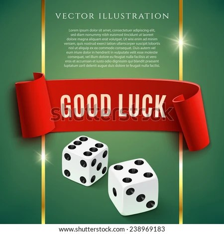Good Luck Casino Background Wit Dice Stock Vector ...
