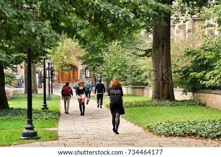 Yale University New Haven Connecticut Usa Stock Photo ...