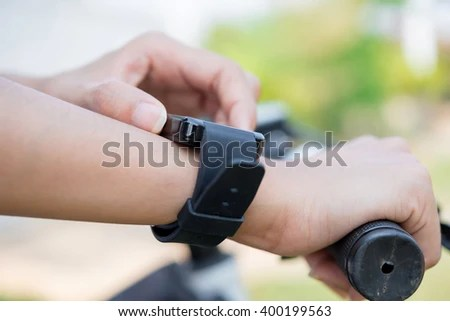 Closeup Smart Watch Have More Application Stock Photo ...
