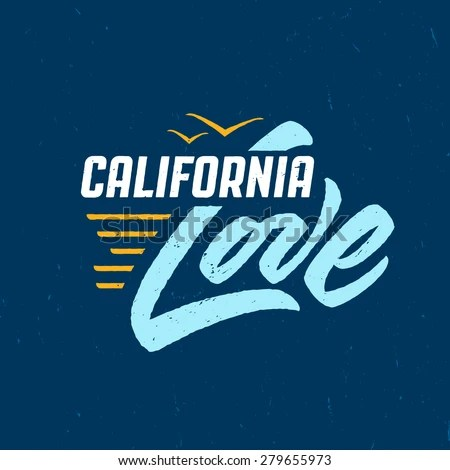 Download Hand Lettered Southern California Apparel T Stock Vector ...