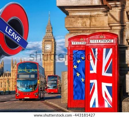 London Symbols Big Ben Double Decker Stock Photo 291815045 ...