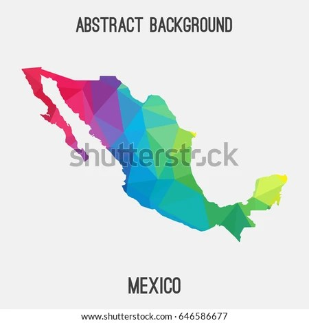 Modern Map Mexico Mx Stock Vector 245656225 - Shutterstock
