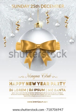 Creative Party New Year Poster – Merry Christmas And Happy New Year 2018