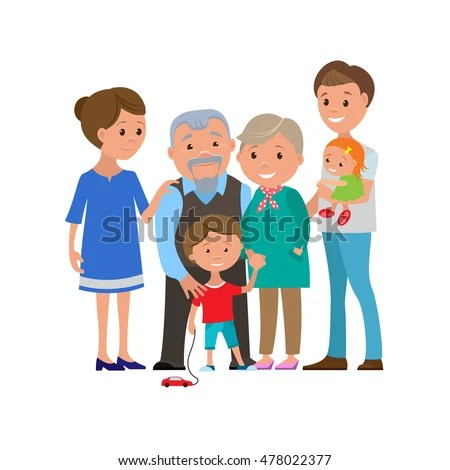 Generations Woman All Age Categories Infancy Stock Vector ...