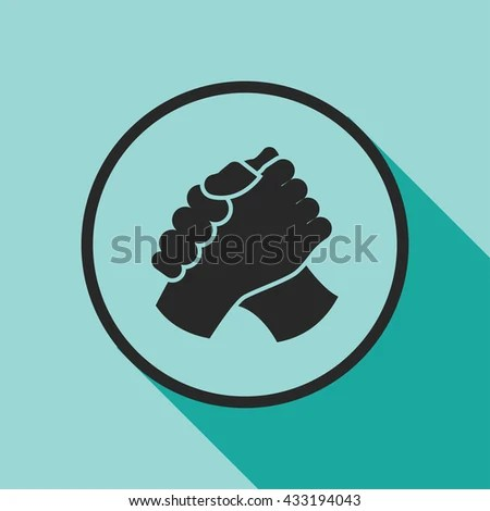 Armwrestling Handshake Icon Stock Vector 449222818 ...