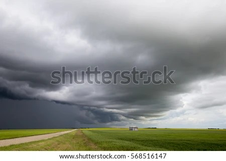 Picture Stormy Sky During Summer Time Stock Photo ...