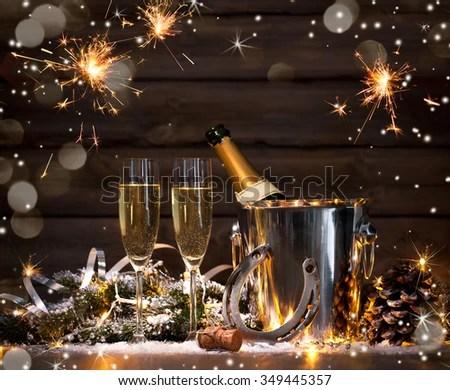 New Years Eve Celebration Background Pair Stock Photo ...