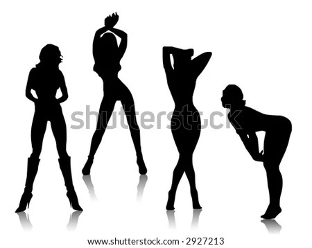 sexy girl illustration silhouette vector