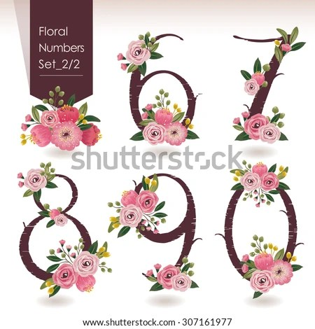 Decorative Numbers Ornaments Vector Stock Photos Images