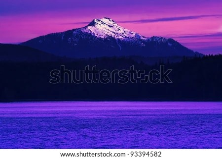 Purple mountains majesty - stock photo