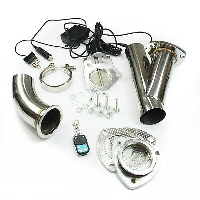 performance exhaust stainless universal exhaust cutout out valve e cut kit remote 2 5 63 5mm dr lowinski