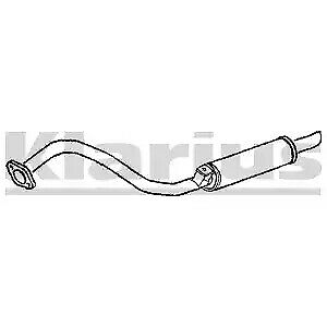 emission systems 1x klarius oe quality replacement rear end silencer exhaust for ford diesel guidohof