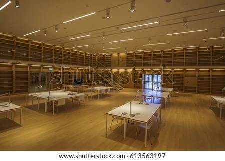 ATHENS GREECE APRIL 2017 Interior New Stock Photo  100  Legal     ATHENS   GREECE  APRIL 2017  Interior of the new National Library and  Center for