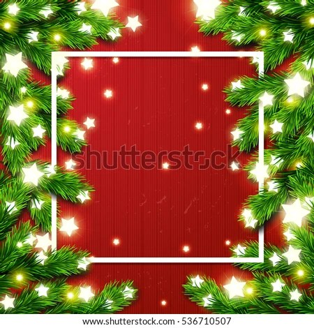 vector star new year border