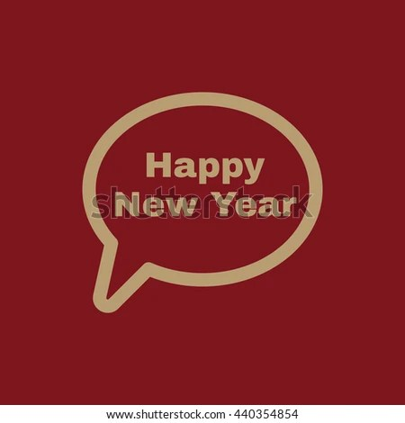 Speech Bubble Word Happy New Year Stock Vector HD  Royalty Free     The speech bubble with the word happy new year icon  Celebration and  holiday  christmas