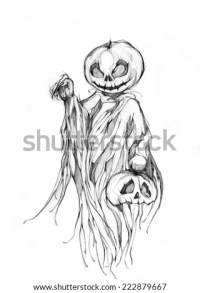 scary halloween drawings pencil