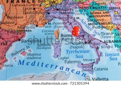 Map Italy Atlas Stock Photo  Royalty Free  721305394   Shutterstock map of italy in the atlas