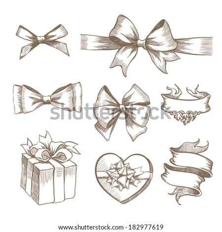 Drawing Bow Stock Photos Images Amp Pictures Shutterstock