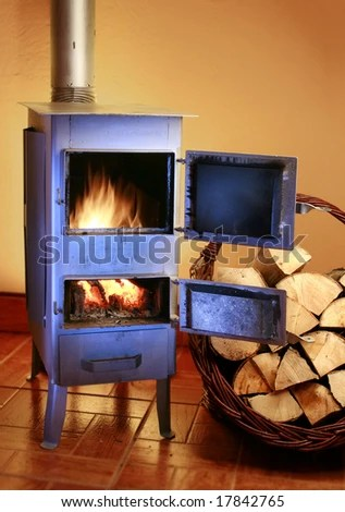 Modern Fireplace Sitting Area Two Leather Stock Photo 228865936 Shutterstock